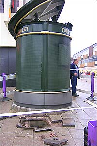 Damaged superloo