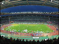 The closing ceremony of the 2003 World Championships in Paris