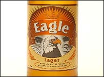 Eagle Lager label
