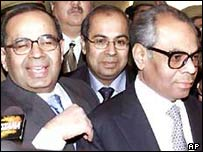 The Hinduja brothers after a previous court appearance in Delhi