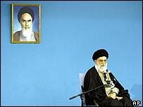 Ayatollah Ali Khamenei in Tehran on Wednesday