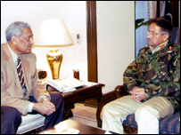Dr A Q Khan and President Musharraf in Rawalpindi