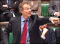 Tony Blair in the Commons debate