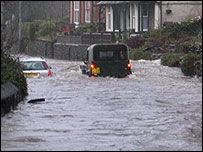 Vehicles caught in the flood (Picture: Graham Hembrough)