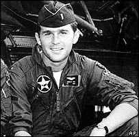 George W Bush in his Air National Guard days