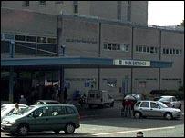 Derriford Hospital entrance