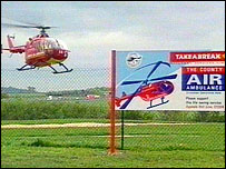 Staffordshire Air Ambulance helicopter