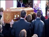 Hundreds of mourners paid their last respects