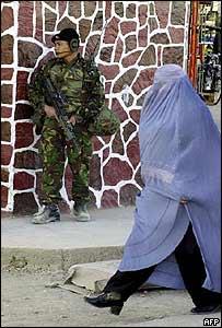 British Isaf soldier in Kabul