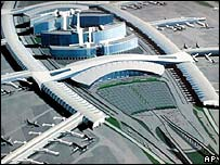 Plans for a new international airport being built in Guangzhou