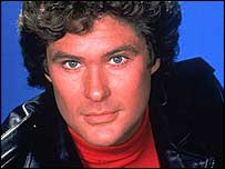 Hasselhoff as Michael Knight in Knight Rider