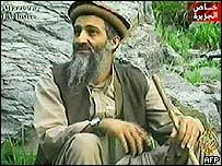 Earlier videotape broadcast on Arab news channel Al-Jazeera of Bin Laden