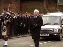 Funeral service for Ally MacLeod
