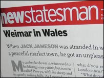 New Statesman logo and article