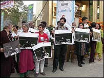 Protest at the Mumbai International Film Festival