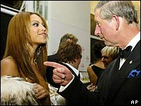 Beyonce Knowles with Prince Charles