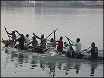 Canoe on the Niger River