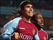 Aston Villa striker Darius Vassell