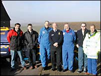 The coastguard team at Beachy Head