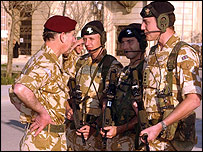 Prince Charles meets troops stationed in Basra