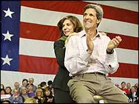 Kerry and wife Teresa Heinz