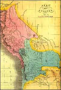 Mapa de 1833 - imagen de boliviaweb.com