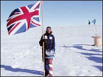 Fiona Thornewill at the South Pole