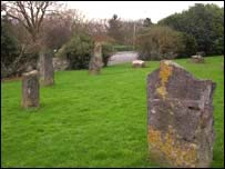 Stone circle in Barry