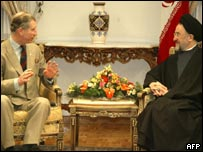 Prince Charles with Iranian President Mohammad Khatami in Tehran