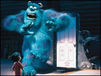 Boo and Sulley from Monsters Inc, (Disney)