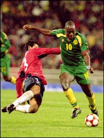 Cameroon's Patrick Mboma