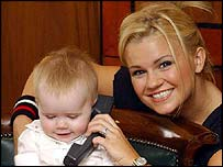 Kerry McFadden with daughter Lily Sue