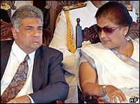 Ranil Wickramasinghe and Chandrika Kumaratunga