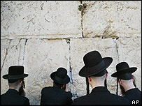 Jews at the Wailing Wall in Jerusalem