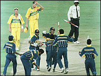 Joy unconfined for Sri Lanka in the 1996 World Cup final