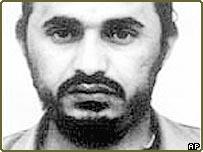 Suspected al-Qaeda operative, Abu Musab al-Zarqawi