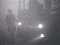La niebla paralizó Londres en 1952
