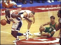 Michael Jordan in action in 1992