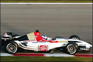 Jenson Button in the BAR-Honda 006
