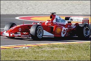Michael Schumacher in the new Ferrari F2004