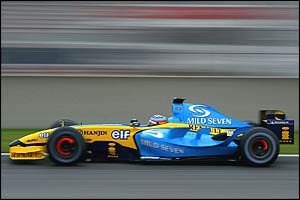 Fernando Alonso in the new Renault R24