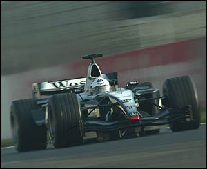 David Coulthard in the new McLaren-Mercedes MP4-19
