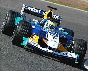 Giancarlo Fisichella in the new Sauber C24