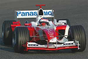 Olivier Panis in the new Toyota