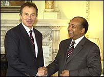Tony Blair and Mohammed Abdulrahman Shalgam