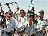 Police trainees in Basra