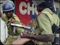 Tanzanian policemen