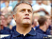 Leicester manager Micky Adams