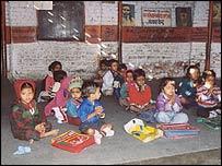 Delhi slum school