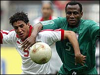 Tunisia and Nigeria played in a thrilling match